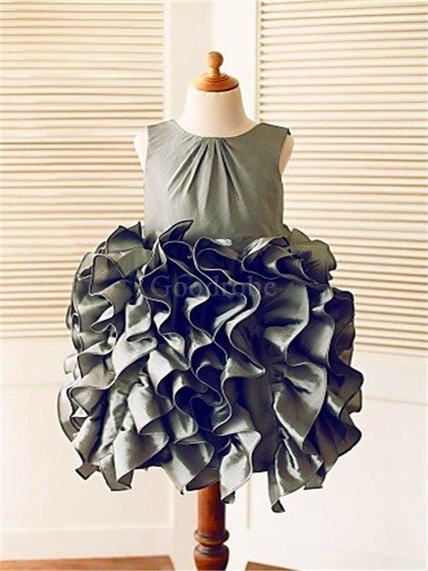 a101d543187df Robe de cortège enfant naturel manche nulle de mode de bal grandes  bretelles avec fleurs ...