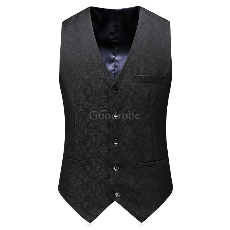 Décontracté groomsman hommes costume double boutonnage costumes smart - photo 5