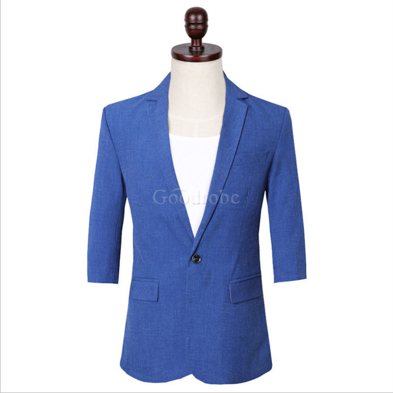 Costumes bleu safari hommes nouveau design blazer - photo 2