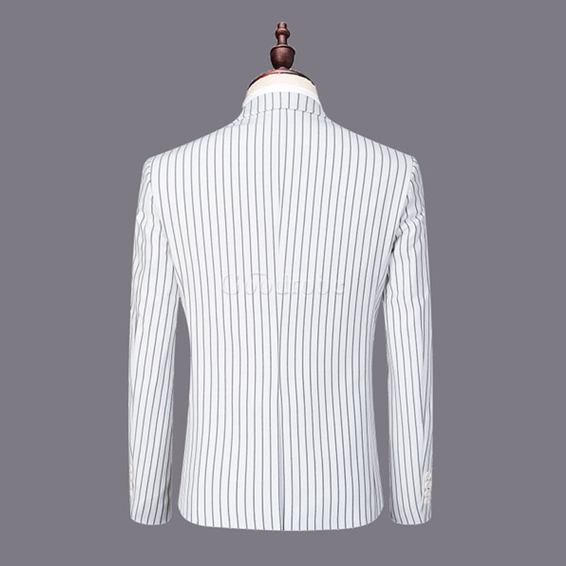 Hommes costumes blanc marié slim fit mariage robe costume hommes - photo 2
