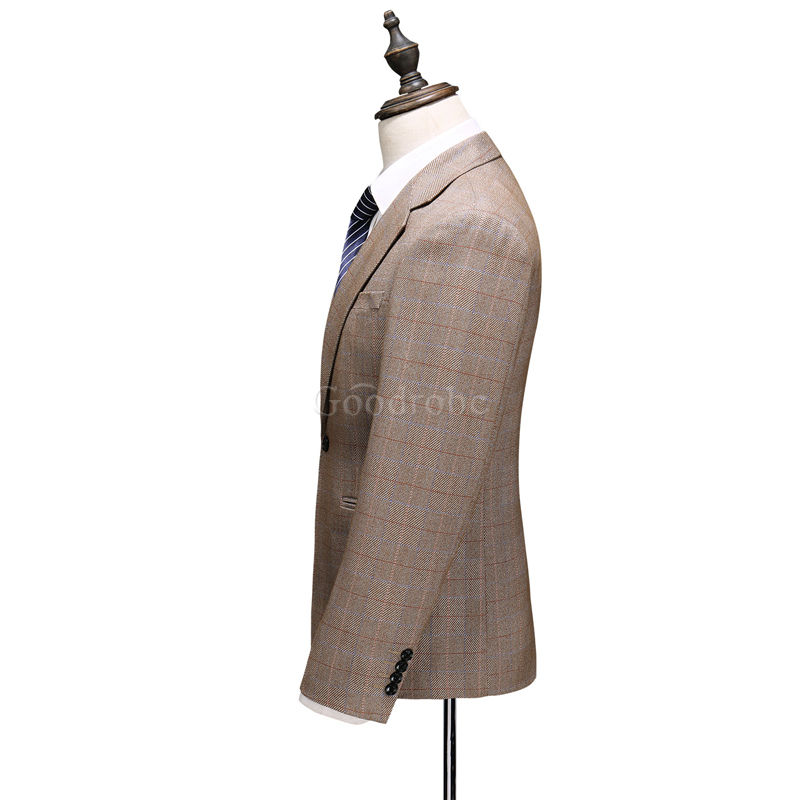 Slim fit costume 5xl costumes hommes blazers costume plaid - photo 2
