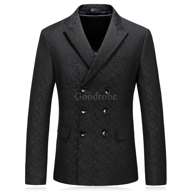 Décontracté groomsman hommes costume double boutonnage costumes smart - photo 2