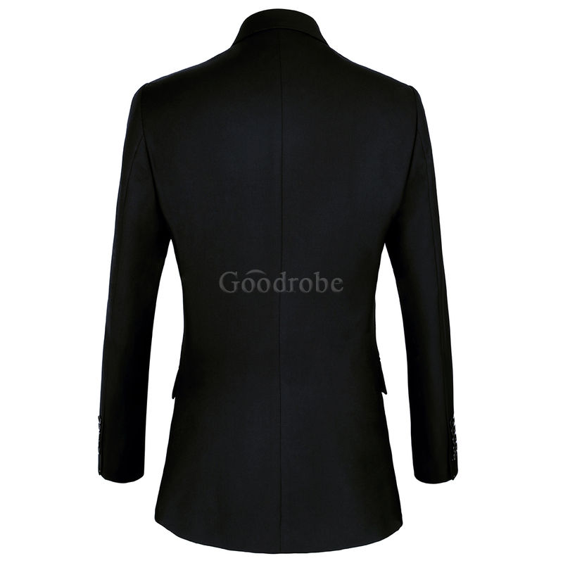 Taille européenne costume mariage homme smoking costume noir formel - photo 3