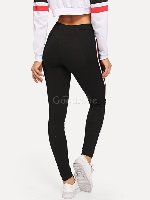 Legging rayé glamour avec cordon - photo 2