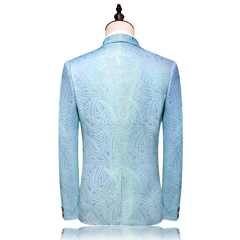 Costume ensemble party costume pour mariage hommes mariage costumes double boutonnage - photo 2