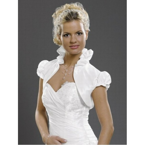 Chic taffetas volants bolero blanc divin - photo 1