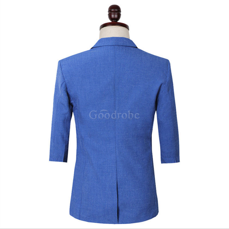 Costumes bleu safari hommes nouveau design blazer - photo 3