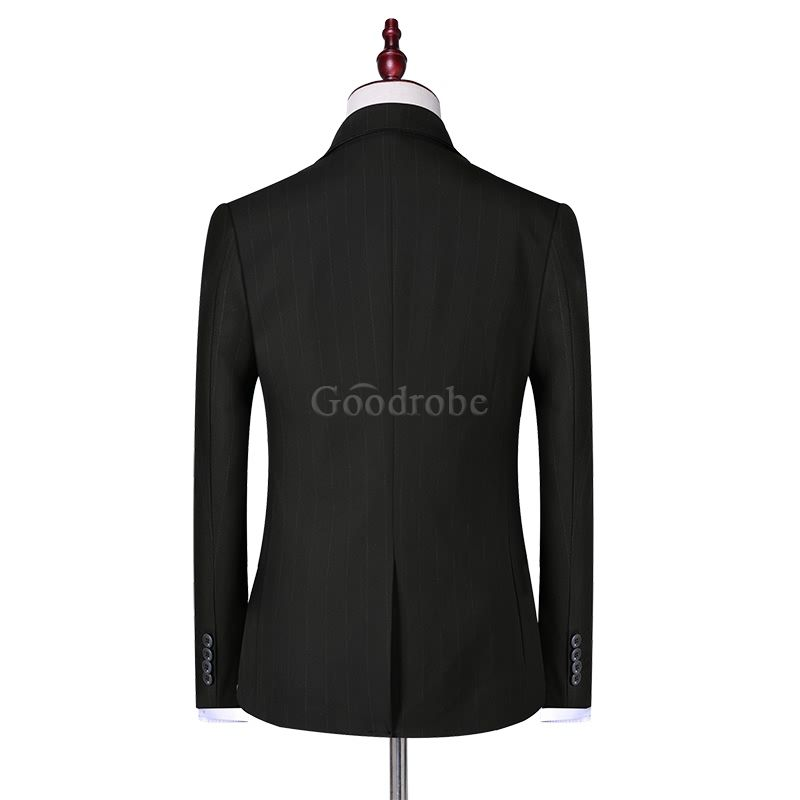Manteau pantalon 3 pièces masculino ensemble slim costume - photo 5