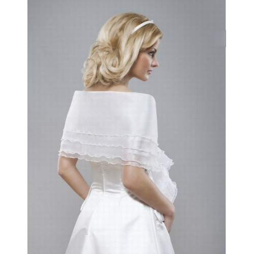 Organza blanc élégant | modeste volants bolero noble - photo 1