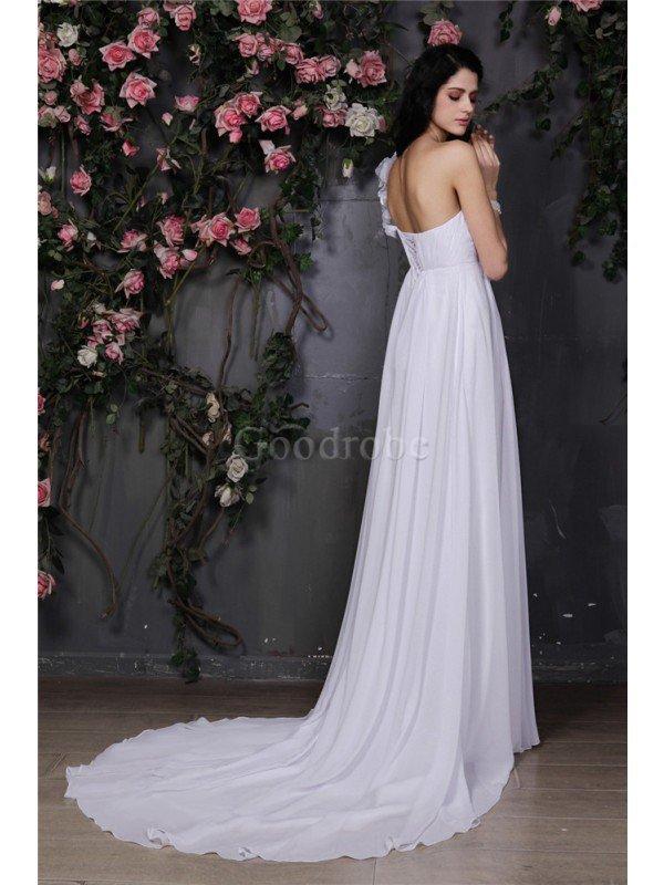 robe de mari e longue en chiffon avec sans manches de. Black Bedroom Furniture Sets. Home Design Ideas