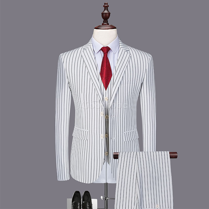 Hommes costumes blanc marié slim fit mariage robe costume hommes - photo 1