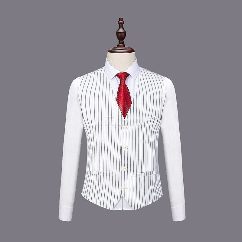 Hommes costumes blanc marié slim fit mariage robe costume hommes - photo 3