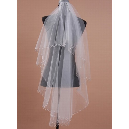 Excellent chic simple | moderne court voile de mariage - photo 1